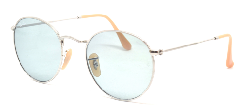 Ray-Ban ROUND METAL RB3447 Silver Metal/Photo Blue (9065/I5)