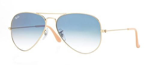 Ray-Ban AVIATOR LARGE METAL RB3025 Gold/blue Shaded (001/3F)
