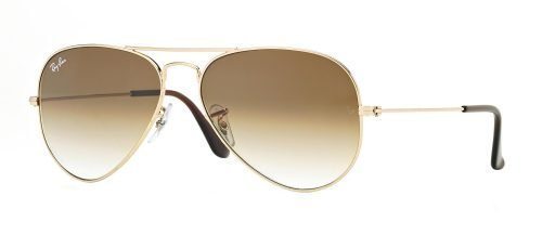 Ray-Ban AVIATOR LARGE METAL RB3025 Gold/light Brown Shaded (001/51)