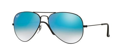 Ray-Ban AVIATOR LARGE METAL RB3025 Shiny Black/blue Shaded (002/4O)