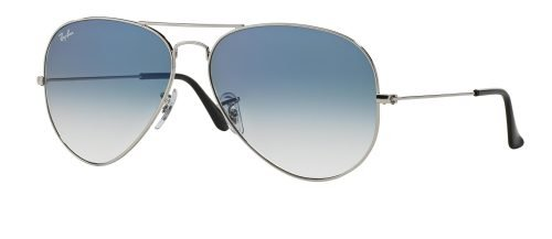 Ray-Ban AVIATOR LARGE METAL RB3025 Silver/blue Shaded (003/3F)