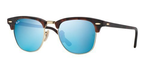 Ray-Ban CLUBMASTER RB3016 Sand Havana Gold/Grey Mirror Blue (1145/17)