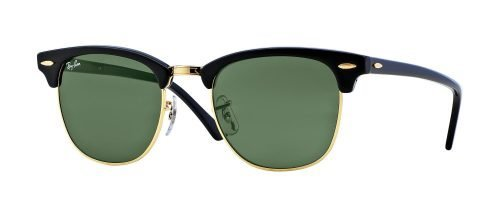 Ray-Ban CLUBMASTER RB3016 Black Gold/g-15 Classic Green (W0365)
