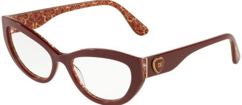 Dolce & Gabbana DG3306 Bordeaux on Damascus Glitter (3205)