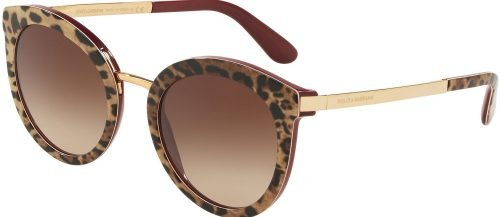 Dolce & Gabbana DG4268 Leo Burgundy/brown Shaded (3155/13)