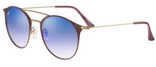 Ray-Ban RB3546 Gold Beige/blue Mirror Shaded (9011/8B)
