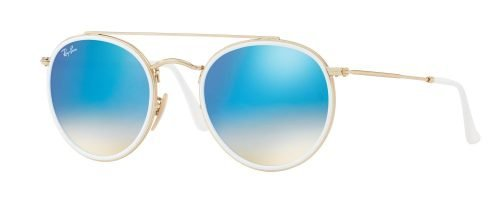 Ray-Ban DOUBLE BRIDGE RB3647N Gold White/Blue Shaded (001/4O)