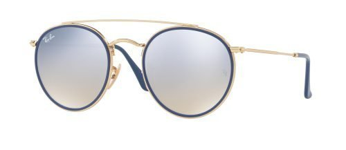 Ray-Ban DOUBLE BRIDGE RB3647N Gold Blue/brown Shaded Silver (001/9U)