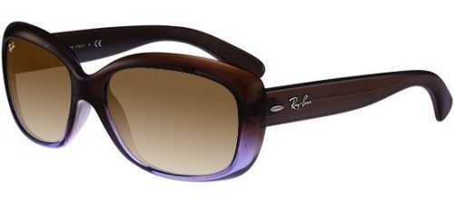 Ray-Ban JACKIE OHH RB4101 Transparent Mud Shaded Violet/light Brown Shaded (860/51)