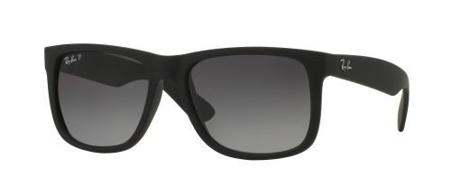 Ray-Ban JUSTIN RB4165 Black Rubber/grey Shaded (622/T3)