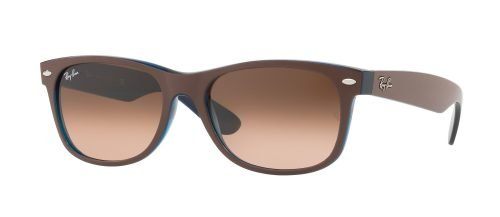Ray-Ban NEW WAYFARER RB2132 Matte Chocolate/pink Brown Shaded (6310/A5)
