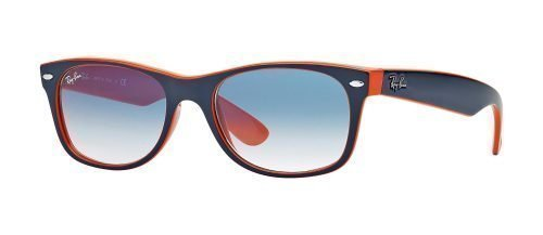 Ray-Ban NEW WAYFARER RB2132 Dark Blue Orange/blue Shaded (789/3F)