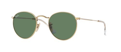 Ray-Ban ROUND METAL RB3447 Gold/g-15 Classic Green (001)