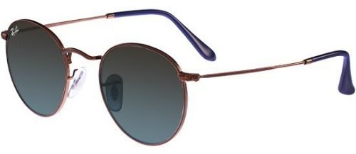 Ray-Ban ROUND METAL RB3447 Dark Bronze/brown Blue Shaded (9003/96)
