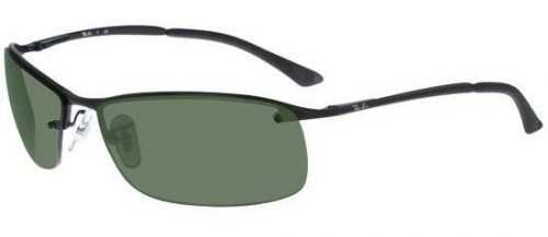 Ray-Ban SIDESTREET RB3183 Matte Black/green (006/71)