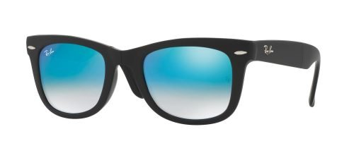 Ray-Ban WAYFARER FOLDING RB4105 Matte Black/blue Shaded (6069/4O)