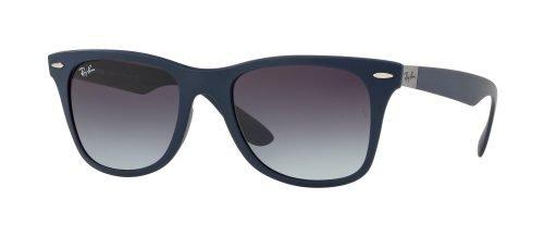Ray-Ban WAYFARER LITEFORCE RB4195 Matte Blue/dark Grey Shaded (6331/8G)