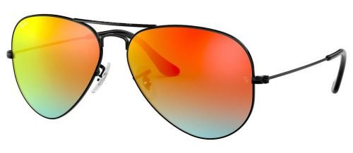 Ray-Ban AVIATOR LARGE METAL RB3025 Shiny Black/Mirror Gradient Red (002/4W)