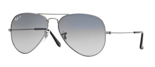 Ray-Ban AVIATOR LARGE METAL RB3025 Ruthenium/Blue Grey Shaded (004/78)