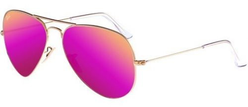 Ray-Ban AVIATOR LARGE METAL RB3025 Matte Gold/Fuchsia (112/4T)