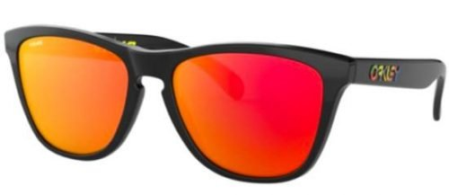 Oakley FROGSKINS OO9013 Valentino Rossi Signature Series Polished Black/prizm Ruby (9013-E6)