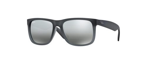 Ray-Ban JUSTIN RB4165 Semi Transparent Grey Shaded Rubber/grey Shaded (852/88)