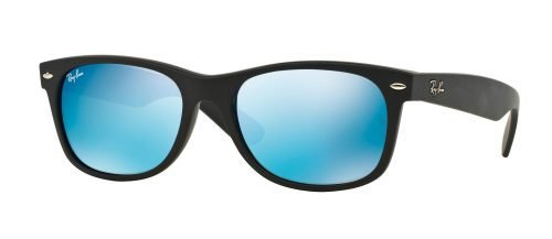 Ray-Ban NEW WAYFARER RB2132 Matte Black/Grey Mirror Blue (622/17)