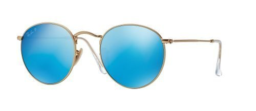 Ray-Ban ROUND METAL RB3447 Matte Gold/blue (112/4L)