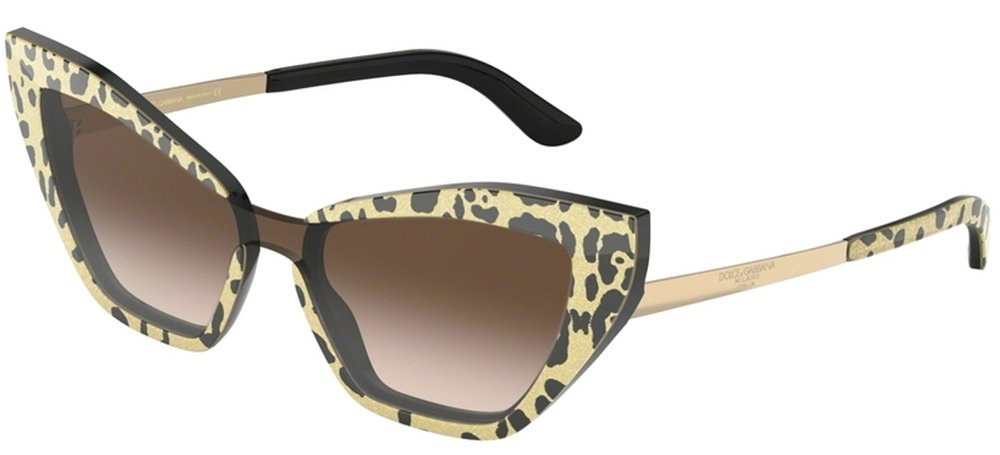 Dolce & Gabbana DG4357 Spotted Gold/brown Shaded (3208/13)