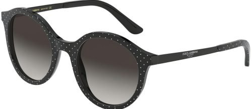 Dolce & Gabbana ETERNAL DG4358 Black White/Grey Shaded (3126/8G)