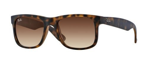 Ray-Ban JUSTIN RB4165 Havana Rubber/brown Shaded (710/13)