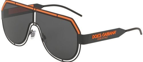 Dolce & Gabbana LOGO DG2231 Matte Black Orange/Grey (1106/87)