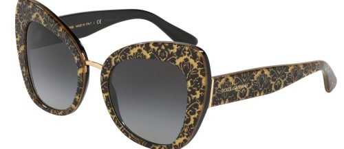Dolce & Gabbana PRINTED DG4319 Black Damascus Glitter/Grey Shaded (3214/8G)