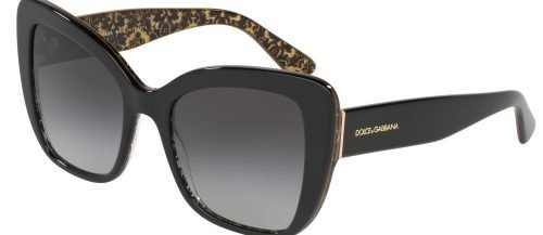 Dolce & Gabbana PRINTED DG4348 Black Damascus Glitter/grey Shaded (3215/8G)