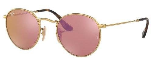 Occhiali da sole Ray Ban Round Metal RB 3447N 001Z2 oro rosa specchiato